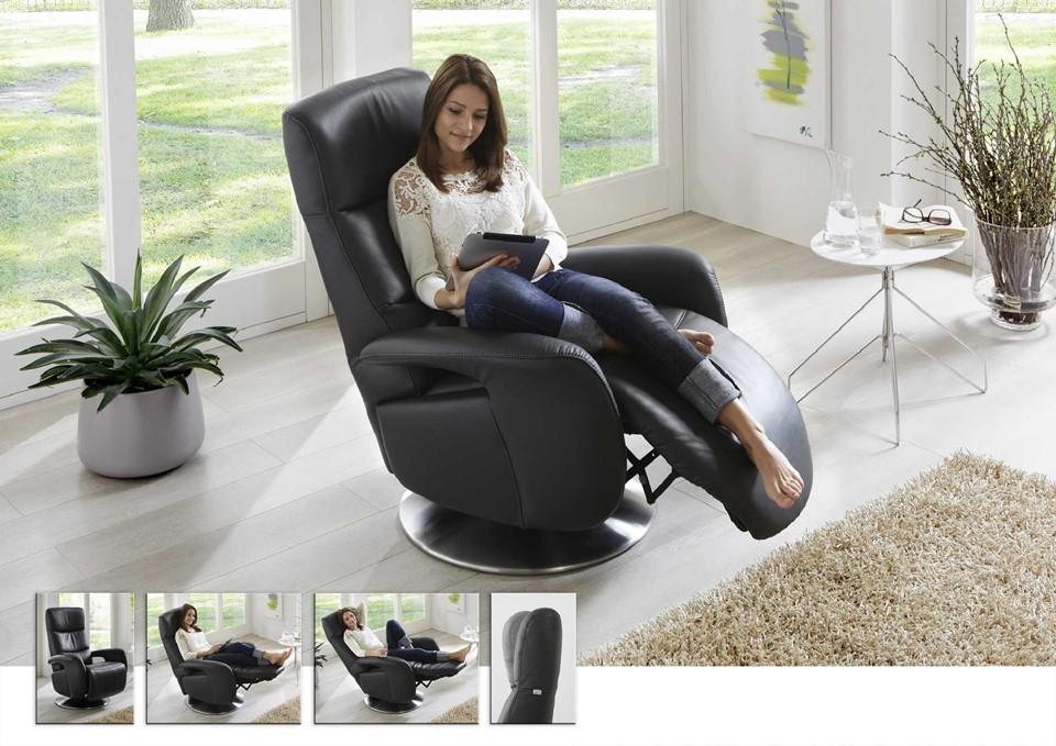 Relaxfauteuil met handmatige bediening relaxstanden